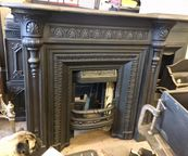Gothic Revival Cast Iron Fireplace