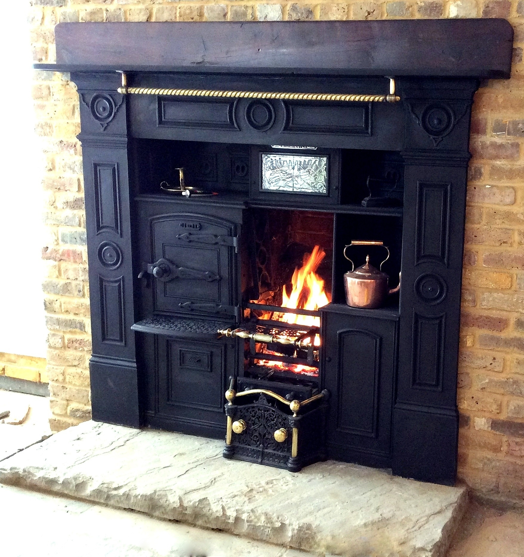 Cooking Warmers Vintage Fireplace ~ Antique fireplaces ranges cheshire plus wood burning
